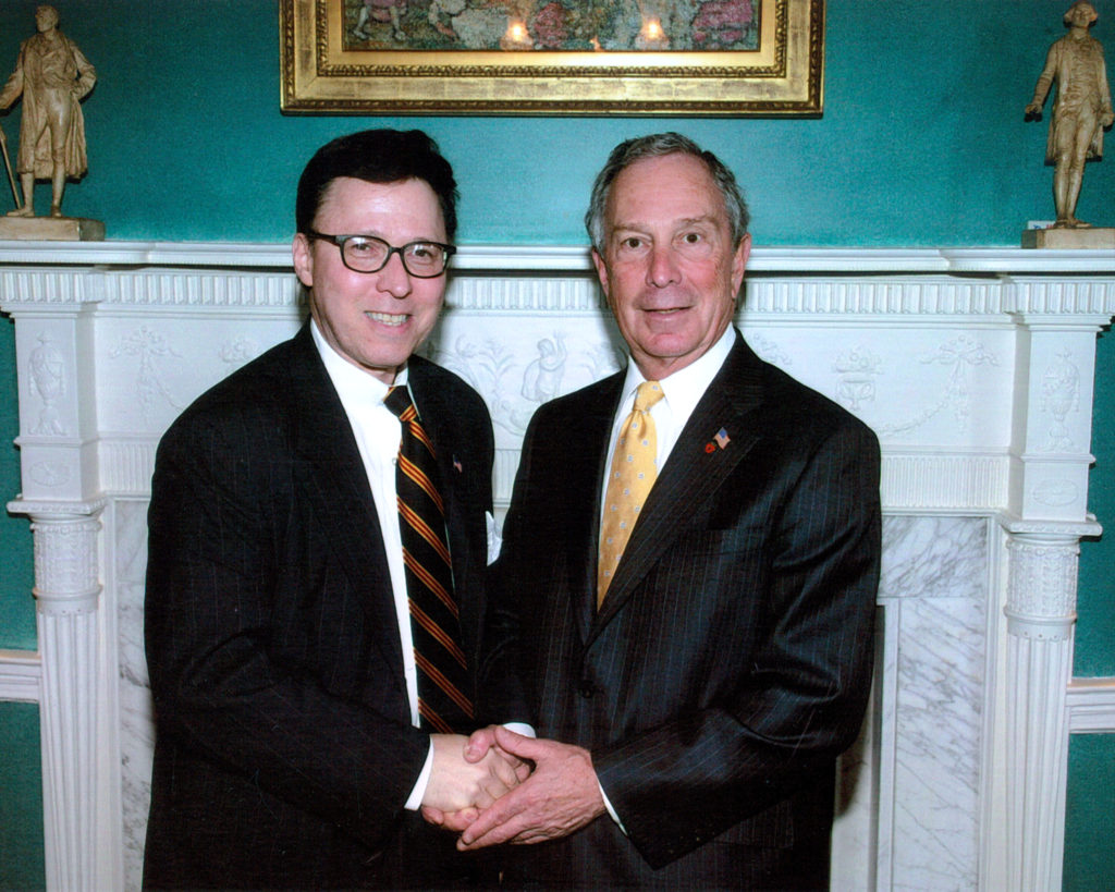 Derek Bryson Park and Michael Bloomberg