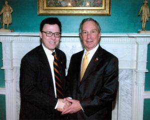 Derek Bryson Park and Michael Bloomberg