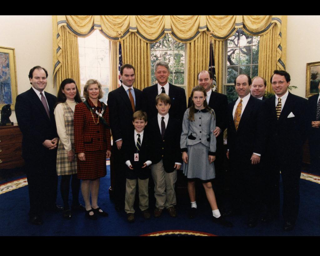 Bill Clinton, the Family of Hugh Carey, and Derek Bryson Park