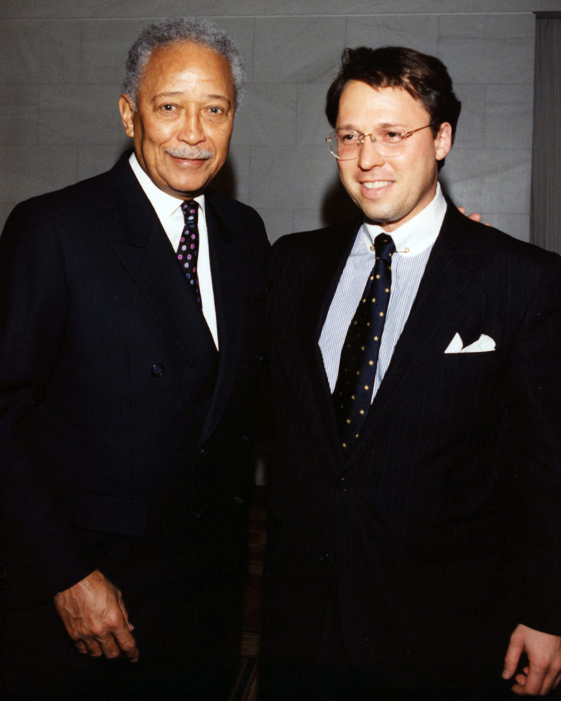 David Dinkins and Derek Bryson Park