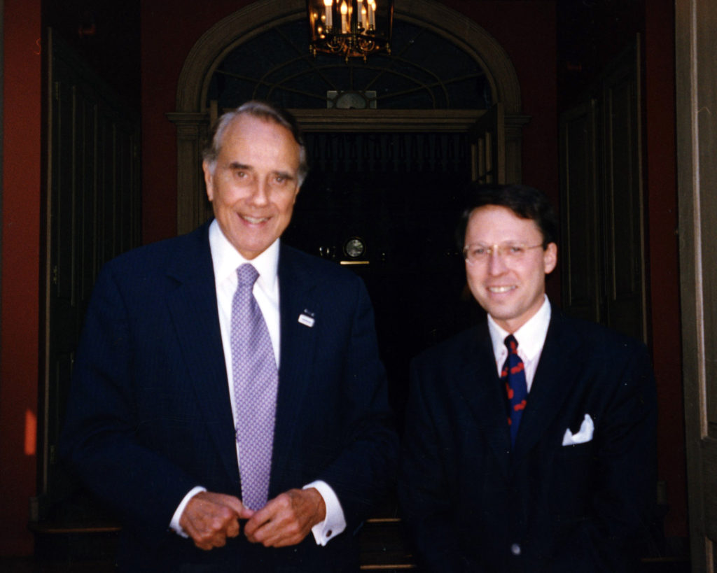 Bob Dole and Derek Bryson Park