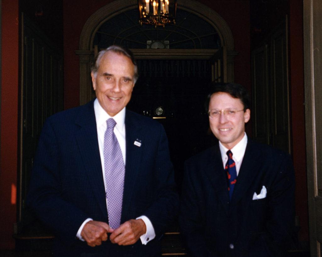 Bob Dole and Derek Bryson Park