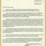 Bill Allain's Letter