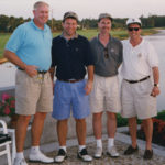 [Left to Right] Founding Member and Chief Executive Officer of Rafferty Capital Markets, LLC, Larry C. Rafferty; Chief Executive Officer and President of Title Resource Group of Coldwell Banker, Donald J. Casey; Managing Director of JPMorgan Chase and former President of GMAC Bank, Robert Groody; and Derek Bryson Park at Old Marsh Golf Club, Palm Beach Gardens, FL.