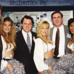[Left to Right] Managing Director, MIAC (Mortgage Industry Advisory Corporation), and former Senior Vice President of Cohane Rafferty Securities, Inc., Daniel P. Thomas; Derek Bryson Park; CEO, Reilly Mortgage Group, Inc., Terry C. Havens; and members of the Dallas Cowboys Cheerleaders squad representing NFL Dallas Cowboys