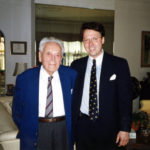 Former Vice Chairman and General Counsel of Universal Pictures and personal mentor, Charles Dewey Prutzman and Derek Bryson Park at the Prutzman family home in New York City.