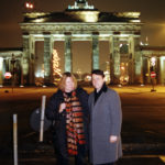 Derek Bryson Park and the Editor of Berlin's leading newspaper, Brandenburg Gate, Berlin, Germany