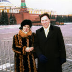 Derek Bryson Park and an official acquaintance, Red Square, the Kremlin, Moscow, Russia