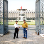 Derek Bryson Park and Vietnamese Official, Presidential Palace, Saigon/Ho-Chi-Minh-City, Vietnam
