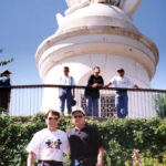 Derek Bryson Park and brother, Dr. A. L. Park, MD, Statue of the Virgin Mary, on San Cristóbal hill, Santiago, Chile