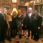 [Left to Right] Cofounder and President of PetroQuest Energy Inc., Charles T. Goodson; family friend; Jeanne Goodson, Caroline Goodson; Karen Callon; Chairman and CEO, Callon Petroleum Company, Fred L. Callon; and Derek Bryson Park, The River Cafe, NYC (circa Early Spring 2017)