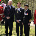 [Left to Right] The Governor General of Canada (and the federal viceregal representative of the Canadian monarch, currently Queen Elizabeth II, The Right Honourable David Johnson; Derek Bryson Park; and Her Excellency Sharon Johnson at the ANNUAL REVIEW of the Bishop's College School No. 2 Cadet Corps (which in 1936 was formally recognized as being affiliated with the Black Watch Royal Highland Regiment)