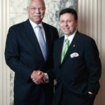 US Secretary of State, General Colin Powell and Derek Bryson Park