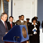 [Left to Right] New York Mayor Michael Bloomberg, Commissioner Derek Bryson Park and Commissioner/ Chair of the NYC Commission on Human Rights, Patricia L. Gatling at a Commission related function, Gracie Mansion, NY