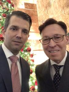 Derek Bryson Park and Donald Trump Jr.