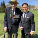 WW II Veteran of the D-Day Invasion at Juno Beach, Normandy for the 3rd Canadian Division, G.B. Okill Stuart, FRHSC (Hon) and Derek Bryson Park